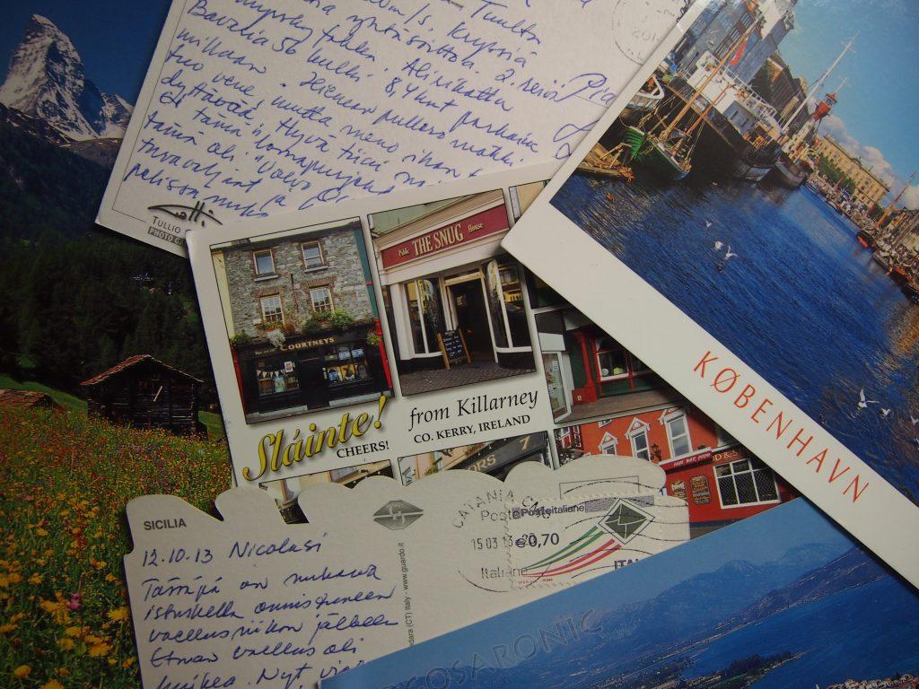 postikortteja maailmalta