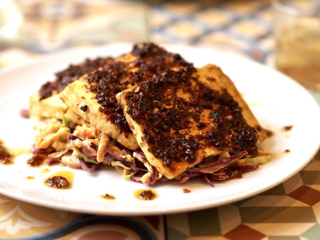 Vega tofu coleslaw