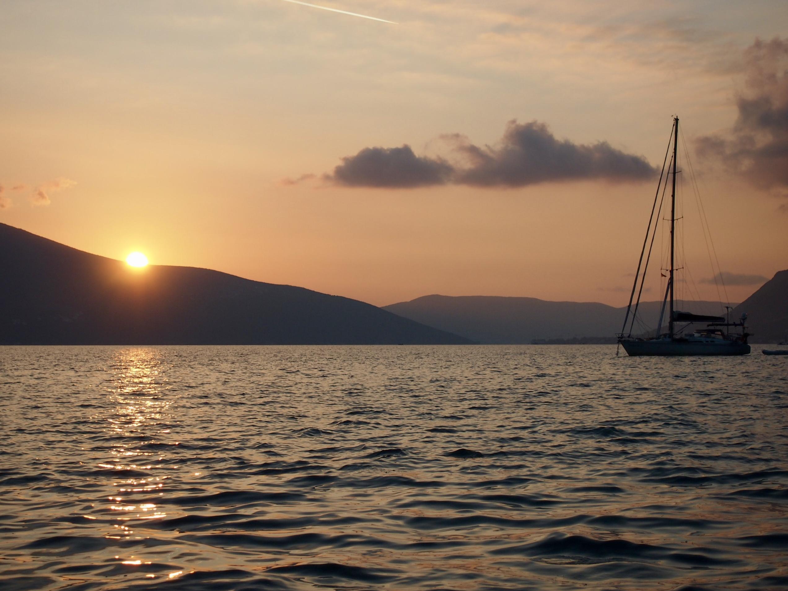sunset tivat Montenegro