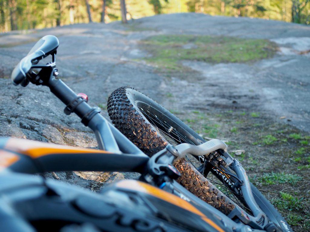 maastopyörälenkki keskuspuistossa